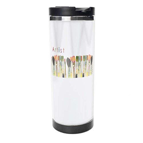 Aceo-Artist-Mug-02 Double Wall Travel Tumbler Stainless Steel Insulated Travel Car Mug 14 oz,Coffee Mug