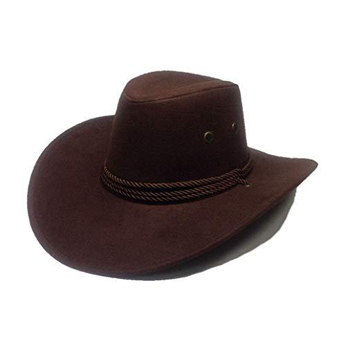 - Mens Cowboy Hats Outdoor Travel Fashion Casual Sun Caps Unisex Brown