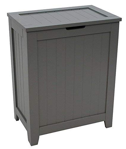 - Redmon 5220GY Contemporary Country Hamper, Gray