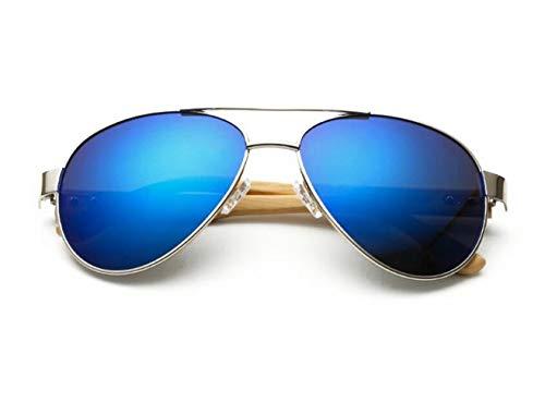 Cool protection UV400 Lunettes pêche lunettes mode en la de Huyizhi plein Silver conduite de lunettes soleil soleil en bois de de voyager de air unisexe dFw557xZq