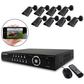 1TB Network DVR System with 8 Indoor/Outdoor Night Vision Color Cameras NDVR8-1TBK