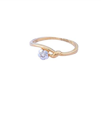 Sakshi Beautiful singal Diamond Flower 18kt Ring
