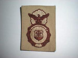 USAF Security Police Badge Patch - Desert - New by HighQ ()