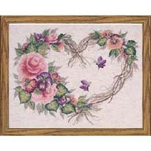 Bucilla Counted Cross Stitch Kit, 14 by 11-Inch, 43092 Grapevine Wreath ()