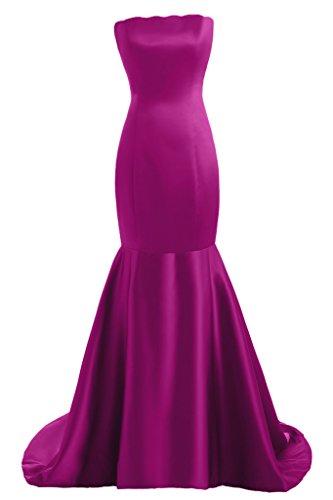 Toscana sposa dall'effetto Mermaid Satin dal giovane sposa per una serata vestimento un'ampia Party ball vestimento viola 40