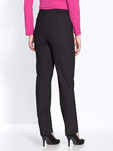 Femme Noir Plat Pantalon Charmance Stature Petite Ventre OnHH8x