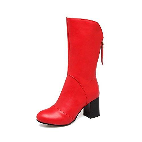 Bottes Duréthane Anti-dérapant Rétro Balamasa Womens Fashion Abl10215 Rouge