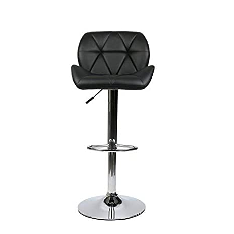 Set Of 2 Bar Stools Adjustable Hydraulic Swivel Dining Counter Pub Chair Kitchen