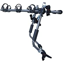 Stoneman Sports VR-648 Sparehand Trunk Mounted 3-Bike Car Rack for All Frame Types, Grey Finish