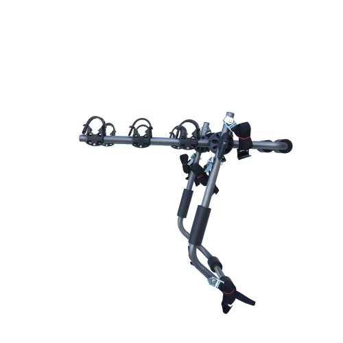 Sparehand 3-Bike Trunk Mounted Car Rack for All Frame Types, 105 lb. Max Weight Capacity
