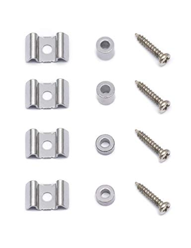 Metallor Guitar Tone Volume Control Knobs Knurled Chrome Metal Dome Style 18mm Diameter 6mm Solid Shaft Compatible with Tele Telecaster Electric Guitar Bass Parts Replacement Set of 4Pcs.