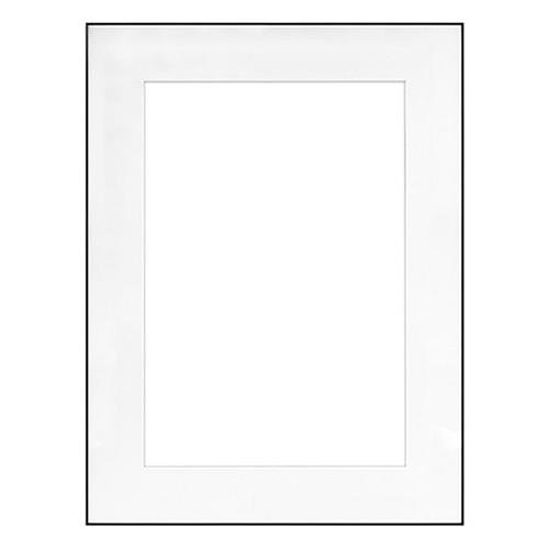 "Fineline Picture Frame Color: Black, Size: 18"" x 24"" Frame/12"" x 18"" Mat -  Framatic, F1824BX62"
