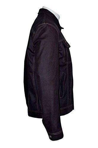 TRUCKER' 1280 Hommes BROWN SKIPPER Veste de cow-boy western classique en cuir véritable