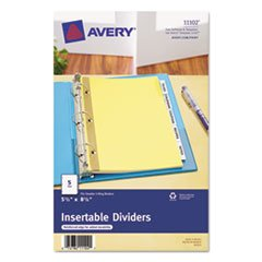 Avery, Insertable Standard Tab Dividers, 5-Tab, 8 1/2 x 5 1/2, 3 Pack Value Bundle