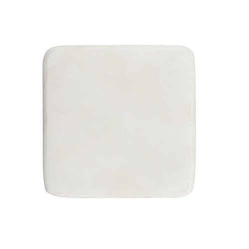(Set of 4 White Square Marble Coasters - Protect Wooden Furniture from Damage - Classic Stone Coasters for Your Bar and Living Room by Artisanal Creations)
