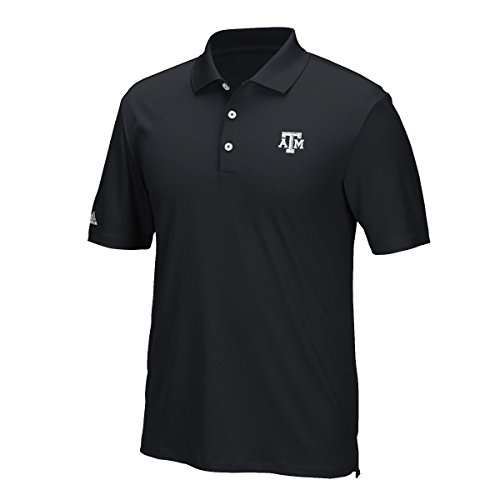 - adidas NCAA Texas A&M Aggies Adult Men Primary Logo Performance Polo,Medium,black