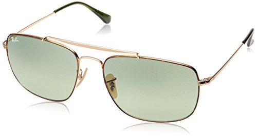 (Ray-Ban RB3560 The Colonel Square Sunglasses, Tortoise/Green Gradient, 61 mm)