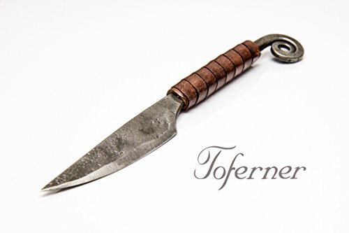 Original Letter Opener – Hand Forged Knife– – Sports- Hand Made Genuine Leather Case- Polished  Hardened Blade – Vintage– Art Collection- Antiquity-…