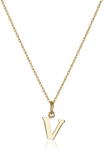 10 best letter v necklace for women