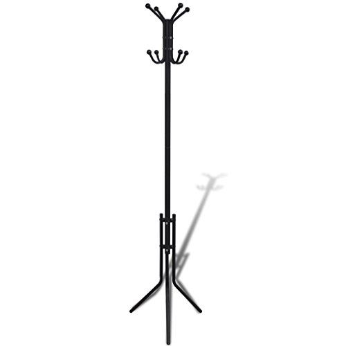 Triangular Coat (Stable Metal Black Classic Coat Hat Clothes Rack Stand Tree Hanger Hall Holder Hook Umbrella Entryway Ball Hooks Storage Clothes Organizer Triangular)