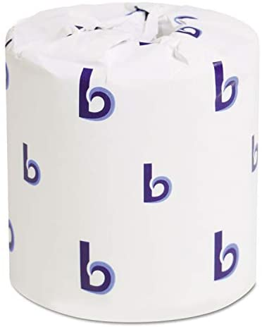 Boardwalk 6155 Two-Ply Toilet Tissue, White, 4 1/2 x 4 1/2 Sheet, 500 Sheets/Roll, 96 Rolls/CT