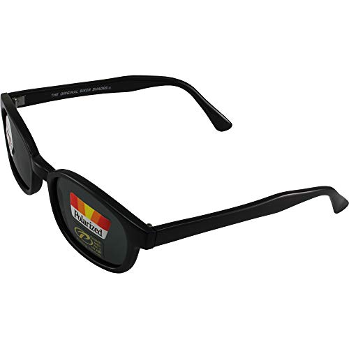 ca934ddc29 The Original X-KD s Biker Shades By PCSUN 20% Larger Black Frames Polarized  Grey