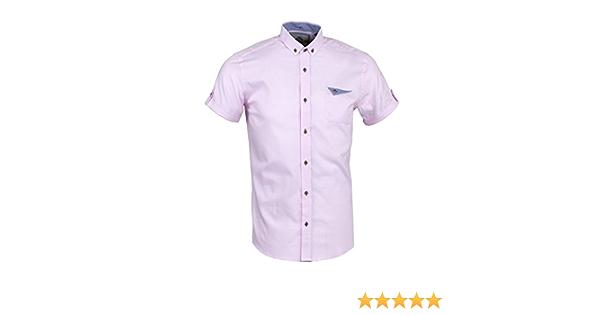 Guide London HS.1940 Camisa, Rosa, Small para Hombre: Amazon ...