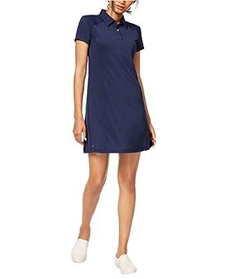 Ideology Women's Short Sleeve Active Polo Tennis Dress