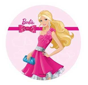 Barbie 21 Cm Pour Gateaux En Papier De Riz Comestible V Cup Cake