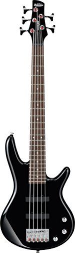 Ibanez 5 String Bass Guitar, Right Handed, Black (GSRM25BK)
