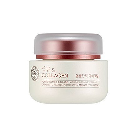 [THEFACESHOP] Pomegranate and Collagen Volume Lifting Eye Cream, Contains Adenosine with a Soothing and Skin Restoring Effect - 50 ml (Best Eye Cream For Sunken Eyes)