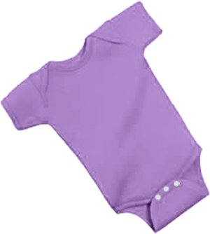 Rabbit Skins Infant Baby Rib Lap Shoulder Bodysuit (Lilac, 12 Months)