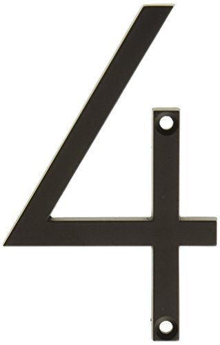 Atlas Homewares ZN4-O 4.5-Inch Avalon House Number-4, Aged Bronze