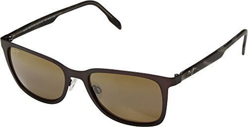 Maui Jim Naupaka H775-01M | Polarized Satin Chocolate Classic Frame Sunglasses, HCL Bronze Lenses, with with Patented PolarizedPlus2 Lens Technology