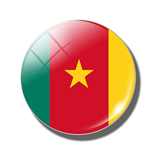 (National Country Flag Fridge Magnet Souvenir World Magnet Board Sticker (Cameroon))