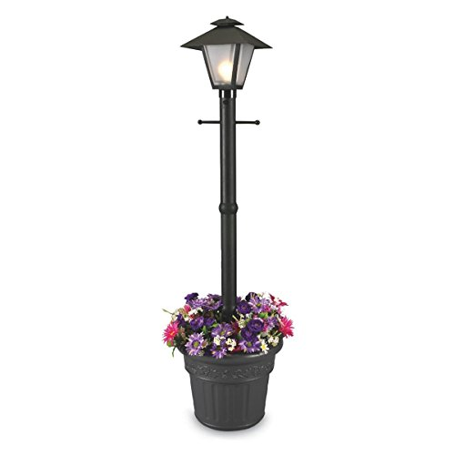 Patio Living Concepts 66000 Cape Cod 80-Inch 100-Watt Planter Lamp, Black (Lantern Portable Post)