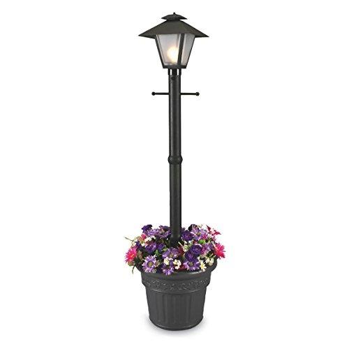 Patio Living Concepts 66000 Cape Cod 80-Inch 100-Watt Planter Lamp, Black (Lantern Post Portable)