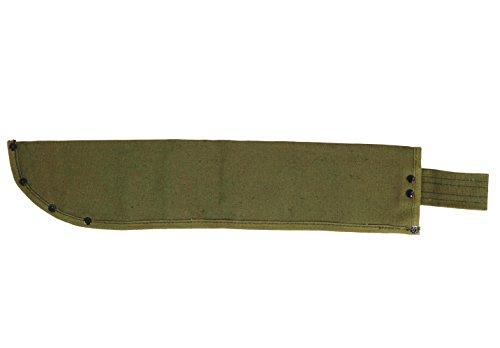 Texsport 18 Inch Green Canvas Machete - Sheath Belt Canvas