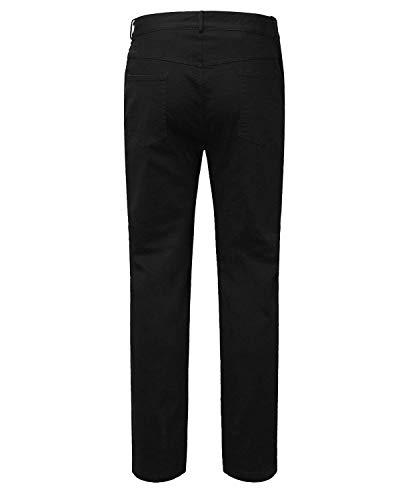Stile Casual Strappato Fit Uomo Ginocchio Bassa Slim Buco A Da Moda Fori Vita Con Jeans Semplice Pantaloni Nero Distrutti Chino vqTY6