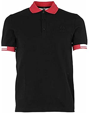 Men's SM142021102 Black Cotton Polo Shirt