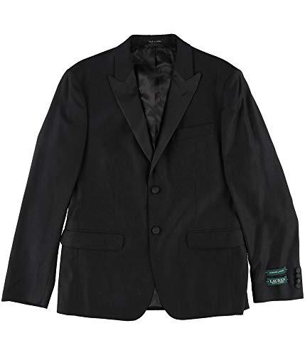 (Ralph Lauren Mens Classic-Fit Black Paisley Two Button Blazer Jacket Black 40)