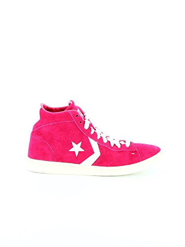 Femme Converse fushia Pro Rose Lp Baskets Zip Mid Leather Basses Suede T zSBqpzCnR