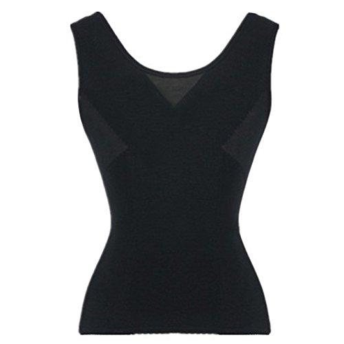 Dong Dian Women's Lace Sport Waist Training Corset Bodyshaper Vest Black S