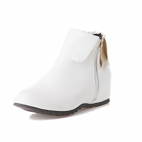 Boots Ankle Fashion Womens Pu Shine Western high White Show Leather pCqPwU