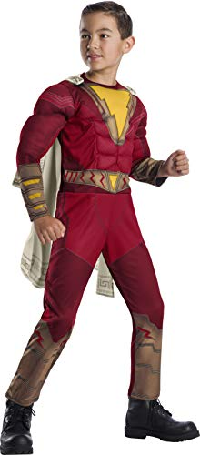 Rubie's Boys Shazam! Costume with Muscle Chest Size Large 10/12 Red