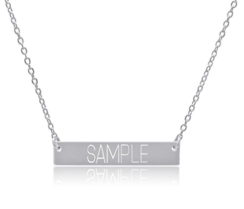 Personalized Silver Plated Necklace - 7