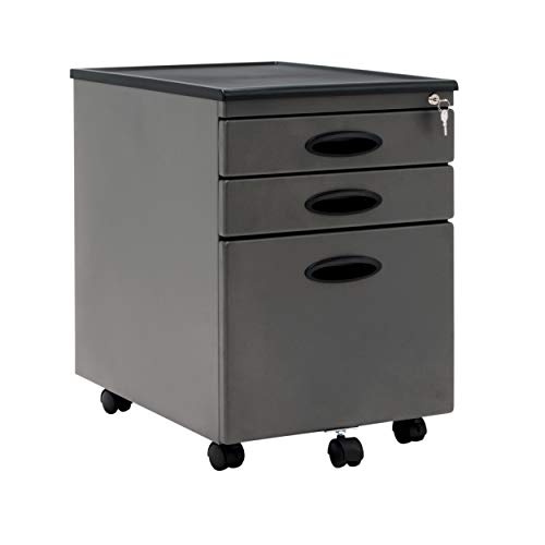 Gray Locking Storage Cabinet - Calico Designs 51101BOX  File Cabinet in Pewter