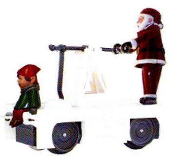 Williams By Bachmann Christmas Santa & Elf O Scale Operating Handcar by Bachmann ()