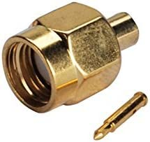 2pcs Rf Wire Coaxial Cable Terminal Copper Alloy Connector Sma Male Straight Crimp for Lmr400 Rg8 Ships from USA