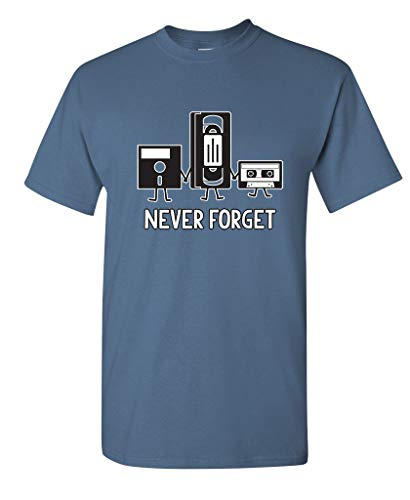 Never Forget Funny Retro Music Mens Novelty Funny T Shirt 2XL -